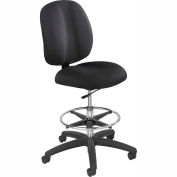 Safco® Apprentice II Office Stool - Fabric - Extended Height - Black
