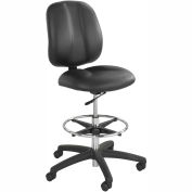Safco® Apprentice II Office Stool - Vinyl - Extended Height - Black