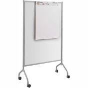 "Safco® Impromptu® Full Whiteboard Screen, 42""W x 72""H, Gray"