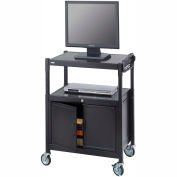 Safco® d'acier réglables AV chariot avec Cabinet