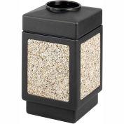Safco® Canmeleon™ Aggregate Panel, Top Open, 38 Gallon Black, 9471NC