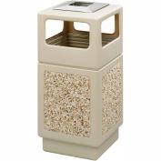 Safco® Canmeleon™ Aggregate Panel, Ash Urn/Side Open, 38 Gallon, Tan - 9473TN