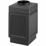 Safco® Canmeleon™ Recessed Panel, Top Open, 38 Gallon Black, 9475BL