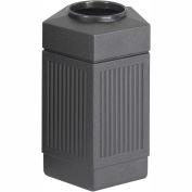 Safco® Canmeleon™ Indoor/Outdoor, 30 Gallon Pentagon Black, 9485BL