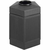 Safco® Canmeleon™ Indoor/Outdoor, 45 Gallon Pentagon Black, 9486BL