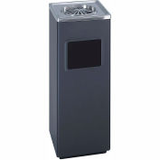 Safco® Square Ash And Trash Receptacle - 9696BL