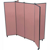 "6 Panel Display Tower, 5'9""H, Fabric - Rose"