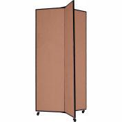 "3 Panel Display Tower, 6'5""H, Fabric - Beech"
