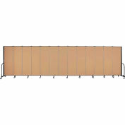 "Screenflex Portable Room Divider - Panel 13 - 6' H x 24'1 ""L - sable"