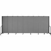 "Screenflex Portable Room Divider - panneau 9 - 6' H x 16'9 ""L - gris"
