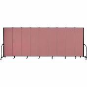 """Screenflex Portable Room Divider - panneau 9 - 6' H x 16'9 """"L - Mauve"""