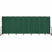 "Screenflex Portable Room Divider - panneau 9 - 6' H x 16'9 ""L - vert"