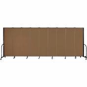 """Screenflex Portable Room Divider - panneau 9 - 6' H x 16'9 """"L - gruau"""
