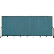 "Screenflex 11 Panel Portable Room Divider, 8'H x 20'5""L, Fabric Color: Lake"