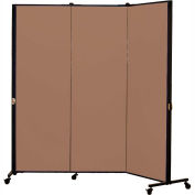 Healthflex Portable Medical Privacy Screen, 3-Panel, Vinyl Sandalwood