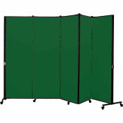 Healthflex Portable Medical Privacy Screen, 5-Panel, Vinyl Mint