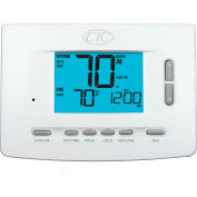 Supco 73257P Programmable Digital Wall Thermostat 2 Heat 2 Cool Conventional 3 Heat 2 Cool Heat Pump