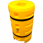"""Column Sentry® Column Protector, 8""""x 8"""" Square Opening, 24"""" O.D. x 42""""H, Yellow"""