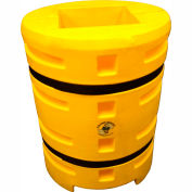 "Column Sentry® Column Protector, 16""x 16"" Square Opening, 33"" O.D. x 42""H, Yellow"