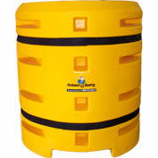 """Column Sentry® Column Protector, 20""""x 20"""" Square Opening, 38"""" O.D. x 42""""H, Yellow"""