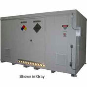 """Securall® 18'W x 8' x 8' 4""""H Agri-Chemical Storage Building 32 Drum"""