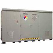 """Securall® 14'W x 8'D x 8' 4""""H Hazmat Chemical Storage Building 24 Drum"""