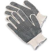 Knit Gloves With Black PVC Dot Grip