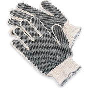 Knit Gloves With Black PVC Dot Grip