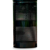 Ex-Cell Landscape Series Waste Receptacle, Black, 34 Gallon Capacity