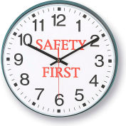"Infinity/Itc 90/00Sf-1  Message Clock - 12"" Diameter - Safety First"