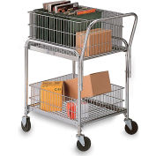 "MSD Ls-2 Mail Cart - 25X17"" Baskets - 4"" Casters"