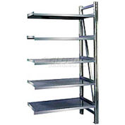 "Acier Pick Shelving, niveau 5, simple, droit, 78"" H x 50"" L x 32 « D, Add-on"