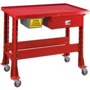 """Shure Portable Standard Démontage ou banc de confinement de fluide, 48""""W x 32""""D, rouge"""