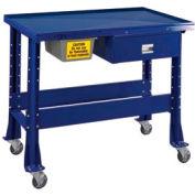 "Shure Portable Standard Teardown or Fluid Containment Bench, 48""W x 32""D, St. Louis Blue"