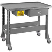 "Standard Tear-Down/Fluid Containment Bench-Portable, 48""W x 32""D-Sebring Gray"