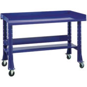 "Shureshop® Mobile Automotive Workbench - Steel - 72""W x 29""D - St. Louis Blue"