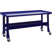 "Trans Max Bench-Portable, Steel Top, 73-1/2""W x 34-1/4""D-St.Louis Blue"