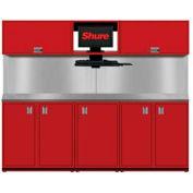 Shuretech m-S2-8' Bench système-carmin rouge