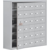 Cell Phone Locker with Access Panel 19168-30ASK - Surface Mounted, Keyed Locks, 30 A Doors, Aluminum