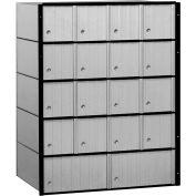 "Salsbury Aluminum Mailbox 2218 - 23-1/2""W x 15-1/2""D x 30""H, 18 Doors, Standard System"
