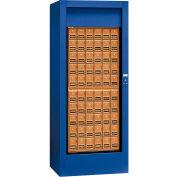 """Salsbury Rotary Centre de courrier 3150BLP - 30"""" W x 24 H «D x 74», en laiton Style, accès bleu, privé"""