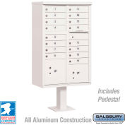 Salsbury Cluster Box Unit, 16 A Size Doors, Type III, White, Private Access