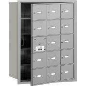 Salsbury 4 b + horizontale boîte aux lettres, 15 A portes (14 utilisable), chargement frontal, aluminium, accès privé