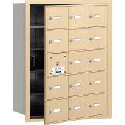 Salsbury 4 b + horizontale boîte aux lettres, 15 A portes (14 utilisable), chargement frontal, grès, accès privé