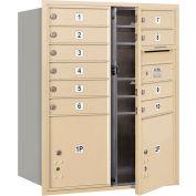 """Salsbury 4c Horizontal Mailbox, 37-1/2"""" H, Double, PL MB10/1 2 portes, chargement frontal, sable, privés"""