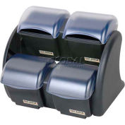 San Jamar® Dome® Stacker-2/2 Mini Domes, (4) 1.5 Pint Deep Trays, (4) 1 Pint Std Trays