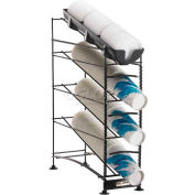 San Jamar® Wireworks™ 4 Tier, 3 Cup Dispensers and 1 Lid Organizer, C8504WF