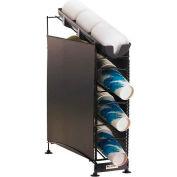 San Jamar® Wireworks™ 4 Tier, coupe 3 distributeurs & 1 couvercle Organisateur, 2 panneaux latéraux, C8504WFD