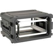 """SKB Cases 20"""" Deep 6U Roto Shockmount Rolling Rack 3SKB-R06U20W Padlock Slots, Water Resistant"""