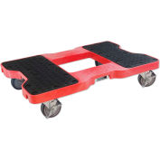 """Snap-Loc® SL1500D4R Dolly Red 1,500 Lb. Cap., Steel Frame, Strap Option, 4"""" Casters"""